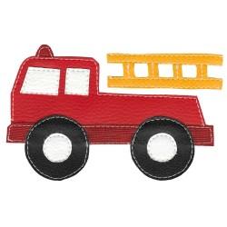 Detské pískacie tričko s požiarníckym autom