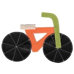 Pískacie tričko s bicyklom