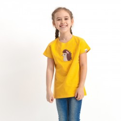 Girl's squeaky t-shirt with short sleeves