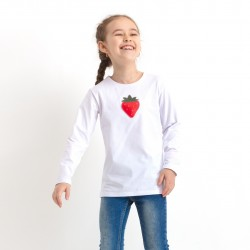 Girl's squeaky t-shirt with long sleeves