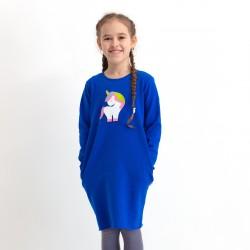 Dievčenské teplákové vrecové šaty